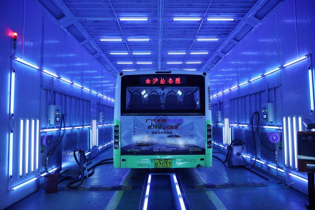UVC Light disinfecting bus China